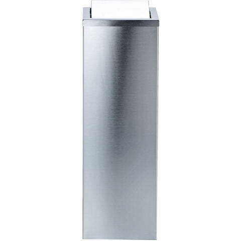 DWBA Square Tall Stainless Steel Wastebasket Trash Can W/ Swing Lid Polished/ Matte - AGM Home Store LLC
