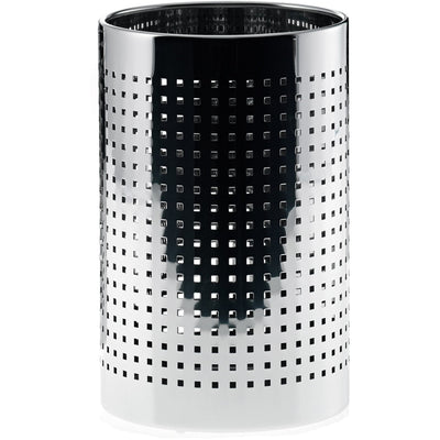 DWBA Round Stainless Steel Wastebasket Trash Can W/O Lid Cover. Polished Chrome - AGM Home Store LLC