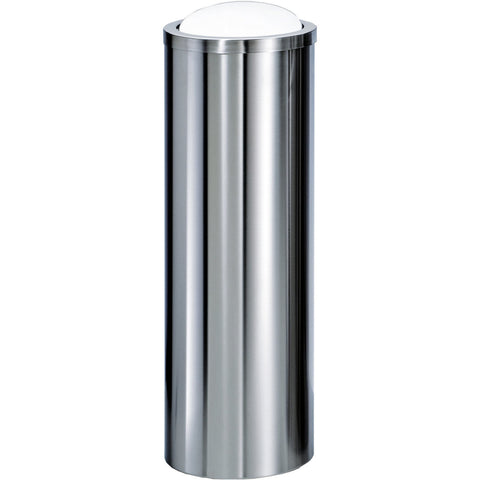 DW 1024 Round Trash Can Tall Stainless Steel Wastebasket W/ Swing Lid. Polished / Matte Finish - AGM Home Store LLC