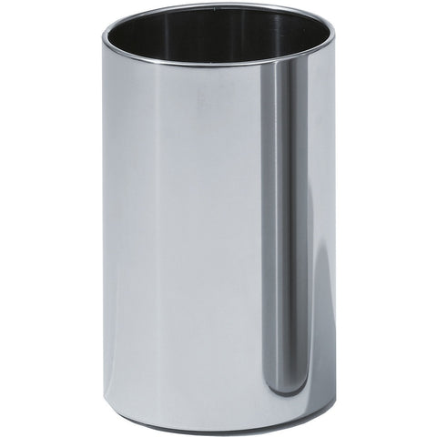 DWBA Round Open Top Trash Can, Stainless Steel Wastebasket W/O Lid Cover