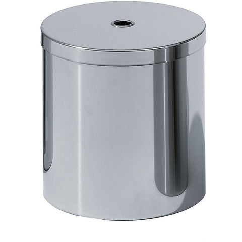 DW 115 Round Trash Can, Polished Stainless Steel Wastebasket W/ Lid Cover - AGM Home Store LLC