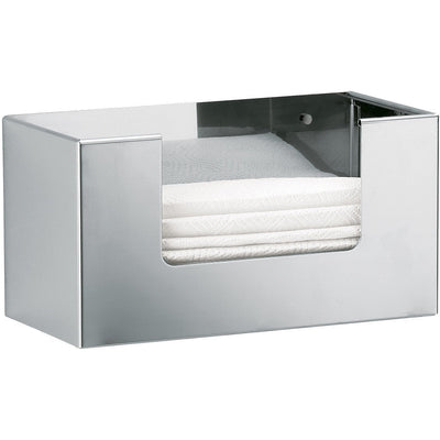 DWBA Tissue Box Holder Cover Tray Paper Dispenser Tissue Case for Bathroom, Chrome - AGM Home Store LLC