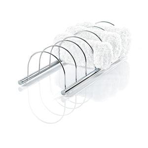 DWBA Chrome Guest Towel Holder for 6 Towels, Towel Rack W/ Divisions for Bathroom - AGM Home Store LLC