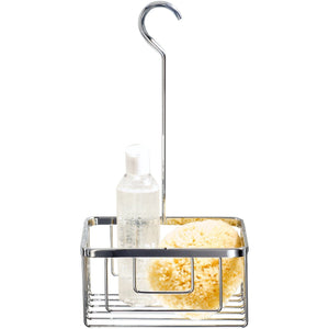 DWBA Chrome Hang Up Brass Shower Caddy Basket for Shampoo, Soap, Conditioner - AGM Home Store LLC