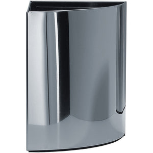 Round Corner Trash Can DWBA Wastebasket. Chrome - AGM Home Store LLC