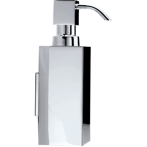 DW 375 N Brass Wall Pump Soap Lotion Dispenser 4.7 oz for Kitchen/ Bathroom - Chrome - AGM Home Store LLC