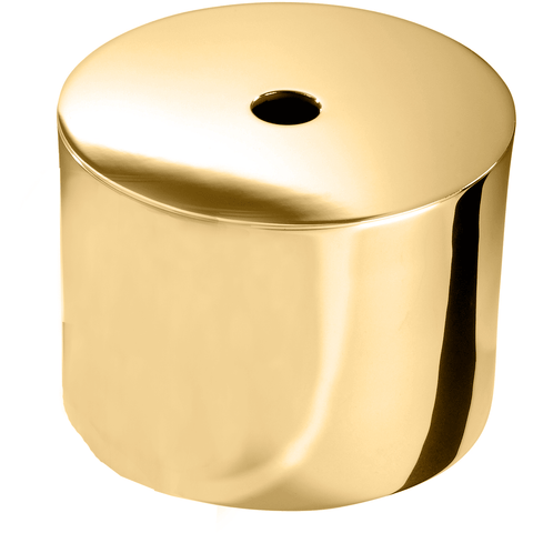 DWBA Round Brass Tissue Box Holder Cover Tray Dispenser Tissue Case for Bath