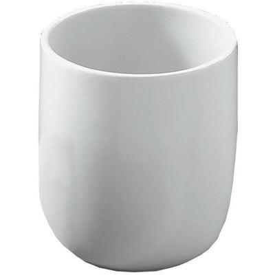 DWBA Round Bathroom Toothbrush Holder Standing Toothpaste Tumbler, Porcelain - AGM Home Store LLC