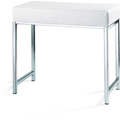 DWBA Backless Vanity Stool Bench, With Chrome Metal Legs - AGM Home Store LLC