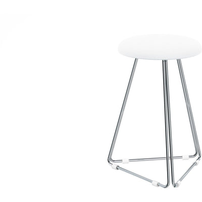 DWBA Backless Vanity Stool Bench for Bath, Closet, or Bedroom W/ Chrome Metal Legs - AGM Home Store LLC