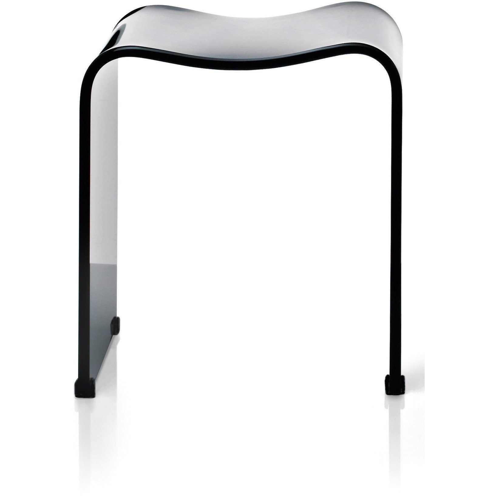 DW 80 Shower Bench Backless Archie Stool Chair for Bathroom Shower, Shiny Acrylic - AGM Home Store LLC