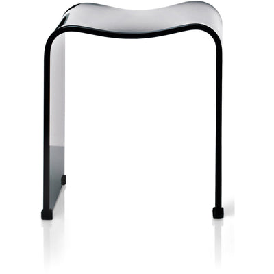 DWBA Backless Archie Shower Bench Stool Chair for Bathroom Shower Seat, Shiny Acrylic - AGM Home Store LLC