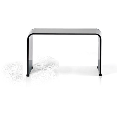DWBA Backless Shower Bench Stool Chair for Bathroom Shower Seat, Shiny Acrylic - AGM Home Store LLC