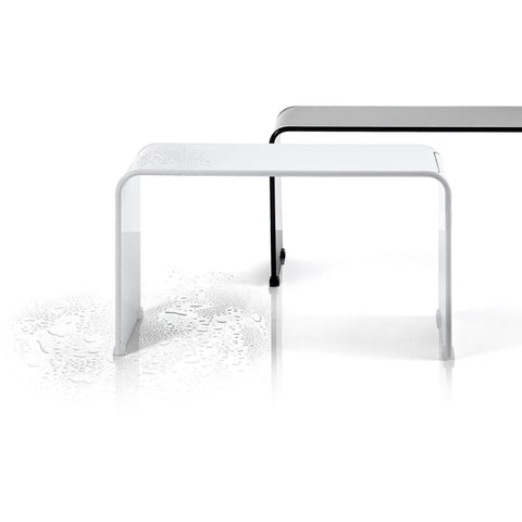 Shower Bench DWBA Backless chair for Bathroom Shower Seat, Shiny Acrylic - AGM Home Store LLC
