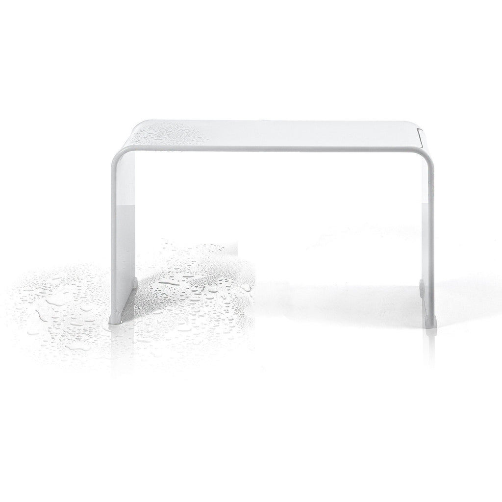 dwba backless shower bench stool chair for bathroom shower seat shiny acrylic - Acrylic Bench