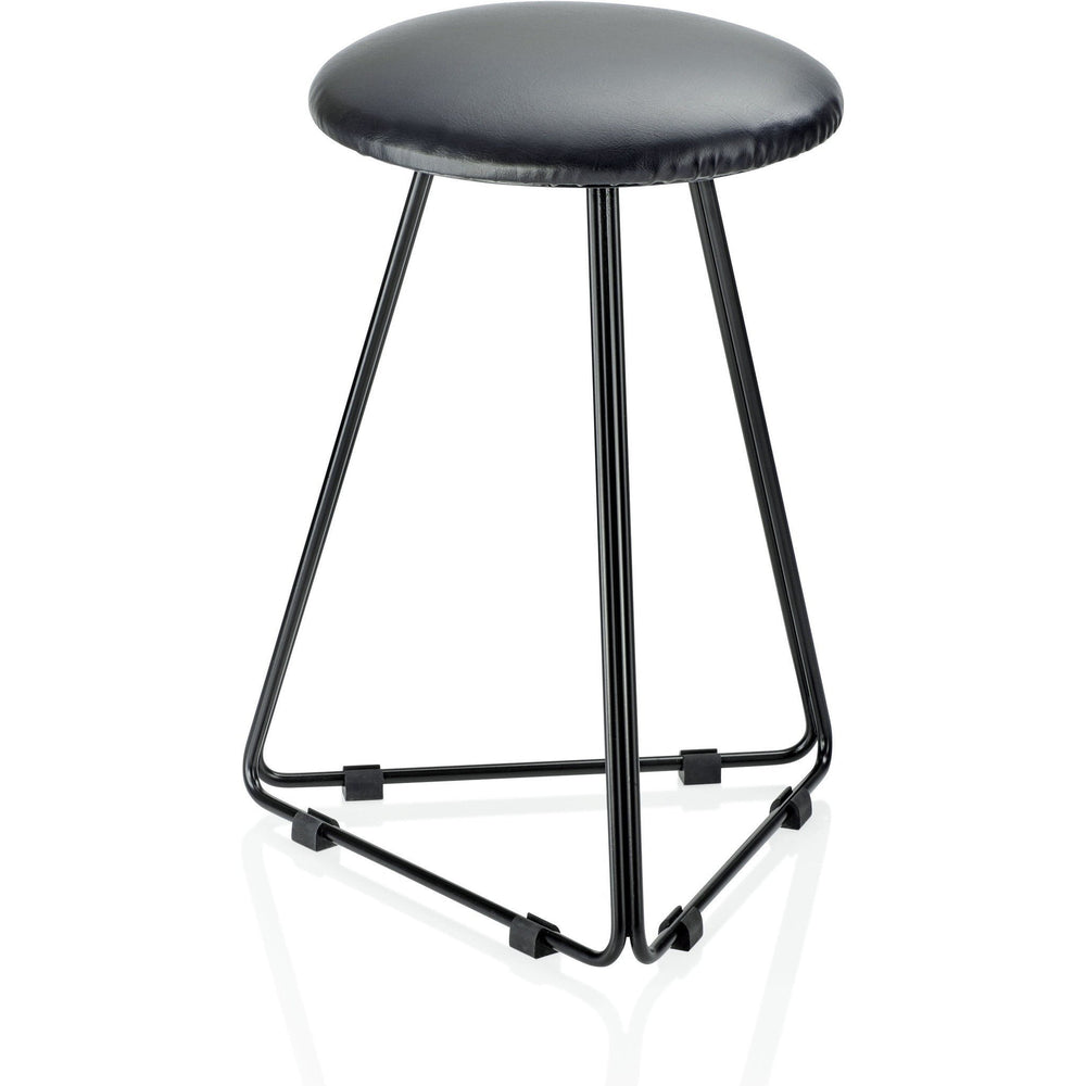 DWBA Matte Black Backless Vanity Stool Bench for Bath, Bedroom With Metal Legs - AGM Home Store LLC