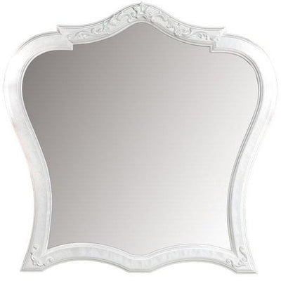 GM Luxury Dali Decorative Wall Art Solid Wood Hand Carved Mirror White Mother of Pearl 36.2x35.4 - AGM Home Store LLC