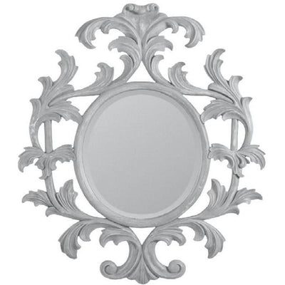 GM Luxury Emile Rectangular Decorative Wall Art Hand Carved Mirror, 33.5x41.3 - AGM Home Store LLC