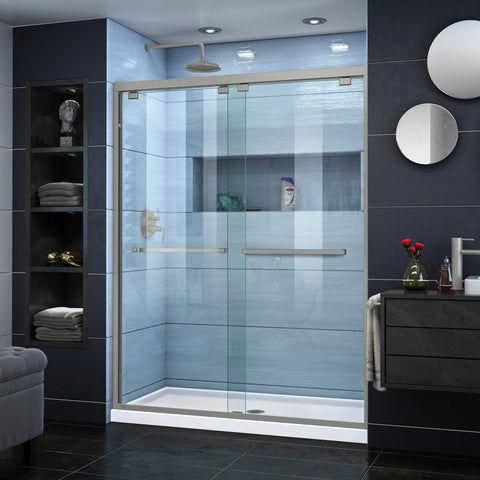 Encore 50-54 in. W x 76 in. H Semi-Frameless Bypass Shower Door - AGM Home Store LLC