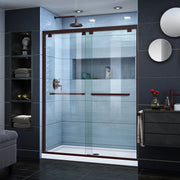 DreamLine Encore 56-60 in. W x 76 in. H Semi-Frameless Bypass Shower Door - AGM Home Store LLC