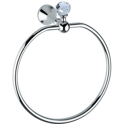 BA Folie Swarovski Round Towel Ring Holder Bath Hand Towel Holder Towel - Brass - AGM Home Store LLC
