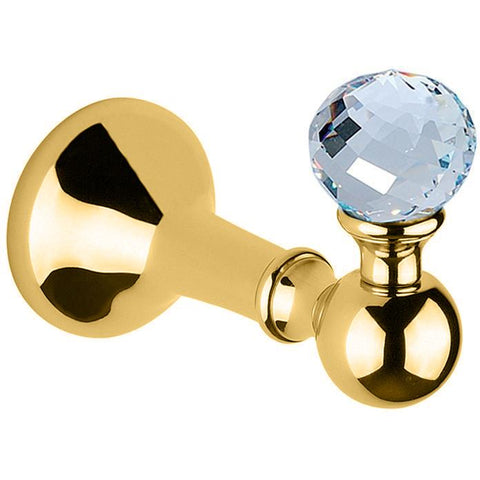 BA Folie Swarovski Wall Towel Robe Hook Hanger for Bath Towel Holder - Brass - AGM Home Store LLC