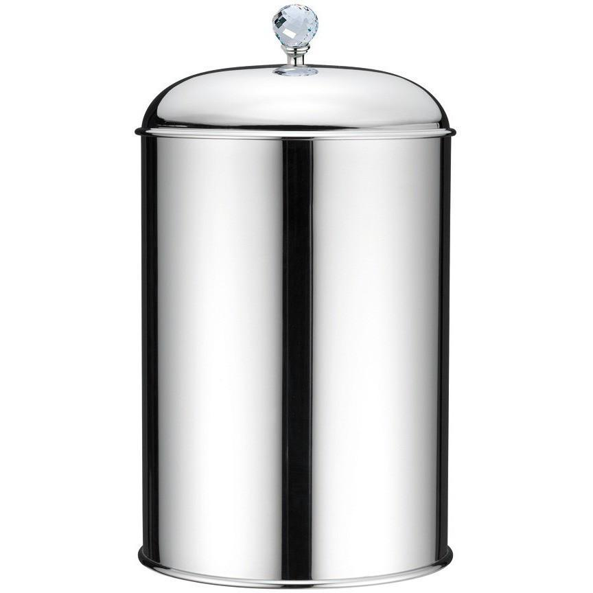 BA Folie Swarovski Round Trash Can for Bathroom - Brass - AGM Home Store LLC