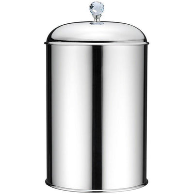BA Folie Swarovski Round Wastebasket Trash Can for Bathroom - Brass - AGM Home Store LLC