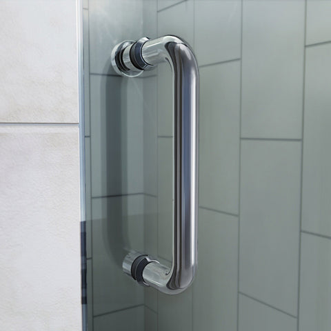 Flex 56-60 in. W x 72 in. H Semi-Frameless Pivot Shower Door in Chrome - AGM Home Store LLC