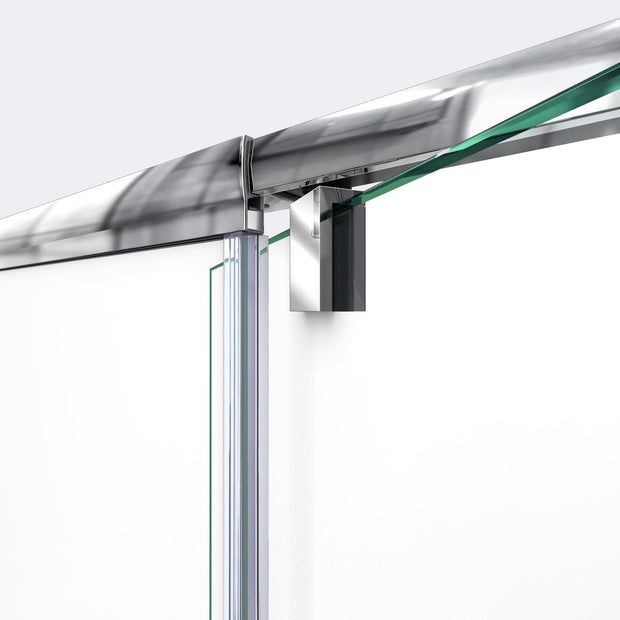 DreamLine Flex 38-42 in. W x 72 in. H Semi-Frameless Pivot Shower Door in Chrome - AGM Home Store LLC
