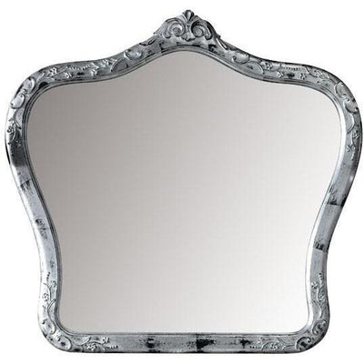GM Luxury Gauguin Decorative Wall Art Mirror for Elegant Design Brushed Silver Leaf 41.3x39.4 - AGM Home Store LLC