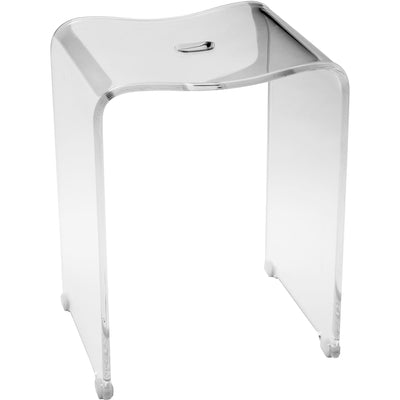 CP Backless Shower Bench Stool Chair Bathroom Shower Seat, Clear Acrylic - AGM Home Store LLC