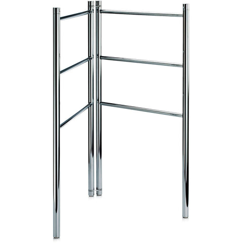 HT 15 Freestanding Towel Ladder Bathroom Rack Stand Towel Holder, Foldable. Chrome - AGM Home Store LLC