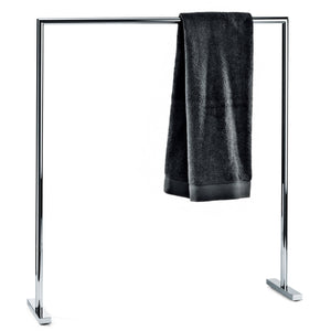 DWBA Freestanding Single Towel Bathroom Rack Stand Bar 28.3-inch Towel Holder. Chrome - AGM Home Store LLC