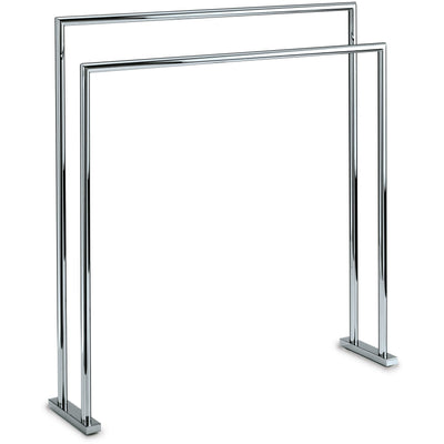 DWBA Freestanding Towel Bathroom Rack Stand Bar 27.5-inch Towel Holder. Chrome - AGM Home Store LLC