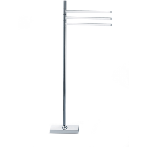 HT 82 Standing Towel Rack Stand Bar Towel Holder 3-tier Movable Triple Bar Holder - AGM Home Store LLC