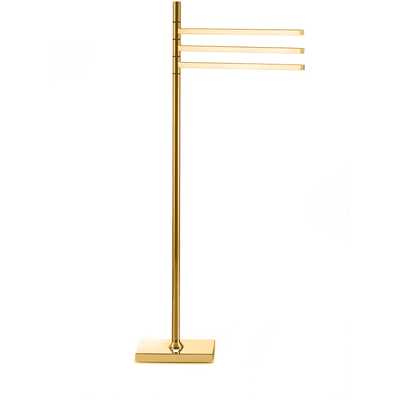 DWBA Standing Towel Rack Stand Bar Towel Holder 3-tier Movable Triple Bar Holder - AGM Home Store LLC