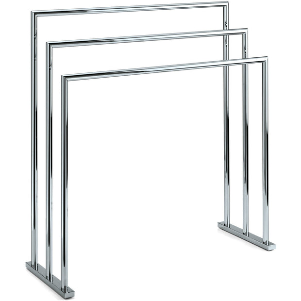 HT 5 / HT 9 Freestanding Towel Bathroom Rack Stand Bar 27.5-inch Towel Holder. Chrome - AGM Home Store LLC