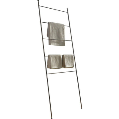 PSBA Standing Towel Rack Ladder for Bathroom Spa Towel Hanger, Steel Matte - AGM Home Store LLC