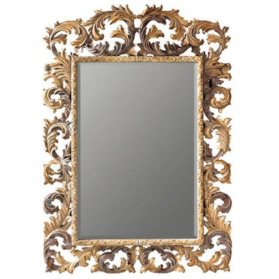 GM Luxury Herbert Full Length Decorative Wall Art Hand Carved Mirror, Solid Wood 55x82.7 - AGM Home Store LLC