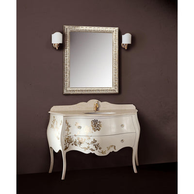 "GM Luxury Ivonne 51.2"" Bathroom Vanity Decorated Cabinet Set Single Sink, Beige - AGM Home Store LLC"