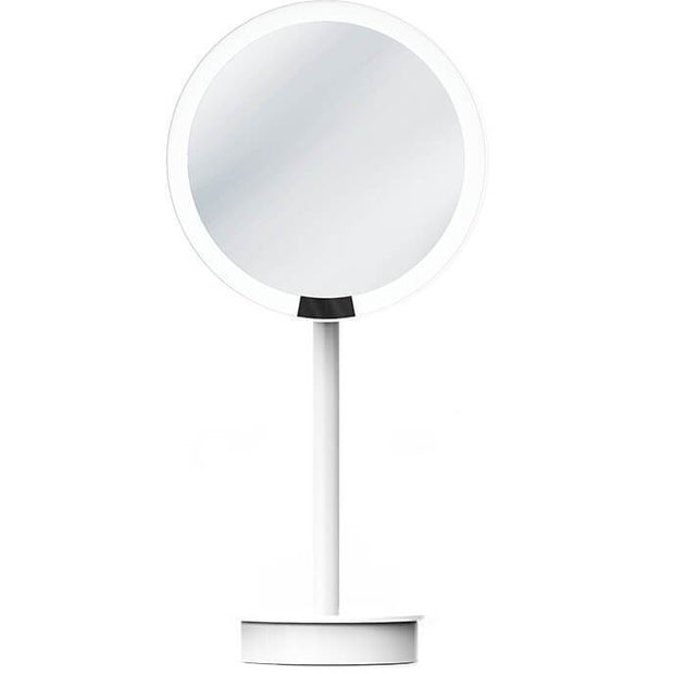 JUST LOOK SR One Sided LED Countertop Cosmetic 5X Makeup Magnifying Mirror, Extendable - AGM Home Store LLC