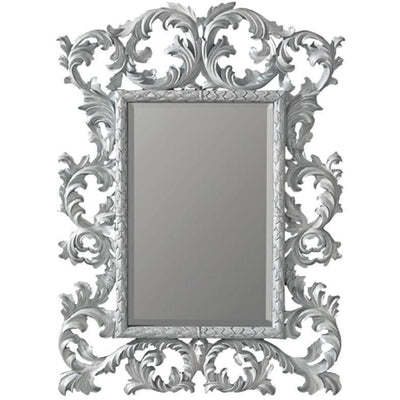 GM Luxury Jeremy Full Length Decorative Wall Art Hand Carved Mirror, White 35x51.2 - AGM Home Store LLC
