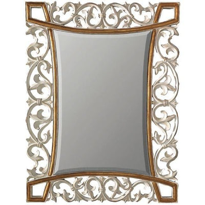 GM Luxury Joris Rectangular Decorative Wall Art Hand Carved Mirror, Leaf 37x48.8 - AGM Home Store LLC