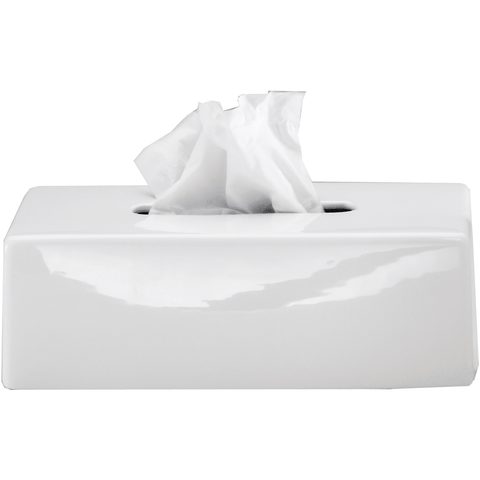 DWBA Tissue Box Holder Cover Tray Dispenser Tissue Case for Bath, Ceramic