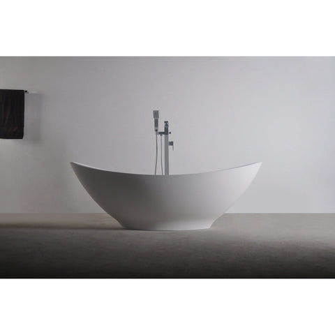 Ideavit Solidlectus Freestanding Bathtub in White Matte Solid Surface
