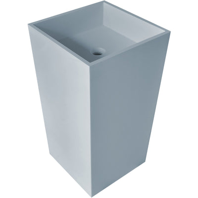 "Ideavit Solidless Square Pedestal Stand Washbasin 18"" - AGM Home Store LLC"