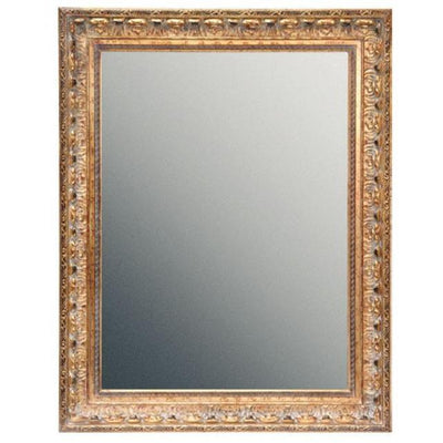 GM Luxury Leopardi Rectangular Decorative Wall Art Mirror for Elegant Design Leaf 27.6x35.4 - AGM Home Store LLC