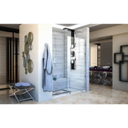 Linea Single Panel Frameless Shower Screen 34 in. W x 72 in. H, Open Entry Design - AGM Home Store LLC