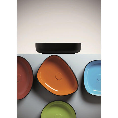 Fosi Oval Ceramic Vessel Sink Bowl Above Counter Sink Lavatory Washbasin - AGM Home Store LLC